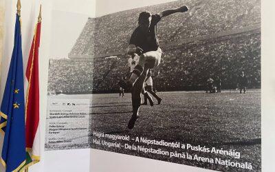 Megnyílt a Hajrá, magyarok! – A Népstadiontól a Puskás Arénáig című kiállítás, a bukaresti Magyar Kulturális Intézetben